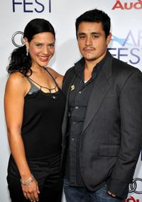 Monique Curnen and Jesse Garcia at the 2008 AFI Fest centerpiece gala screening of