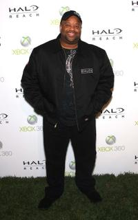 Mark Christopher Lawrence at the launch of XBox 360's