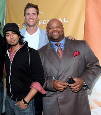 Vik Sahay, Ryan McPartlin and Mark Christopher Lawrence at the NBC Universal's 2010 TCA Summer party.