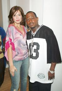 Mandy Moore and Martin Lawrence at the MTV's Total Request Live.