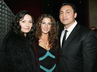 Mia Blake, Justine Naufahu and Rene Naufahu at the Air New Zealand Screen Awards.