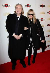 Leigh Lawson and Twiggy at the world premiere of
