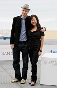 Jan Budar and Carmen Machi at the 57th San Sebastian International Film Festival.