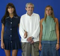 Maiwenn Le Besco, Claude Lelouch, Mathilde Seigner at the photocall of