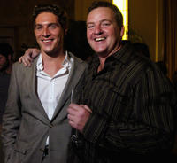 Mark Umbers and director Mike Barker at the after party of