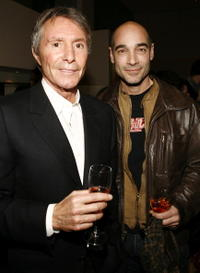 Director Francis Veber and Jean-Marc Barr at the after party of