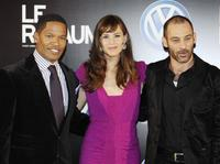 Jamie Foxx, Jennifer Garner and Ashraf Barhoum at the premiere of