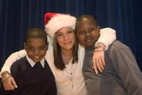 Carlos Beason, Angie Martinez and Ousmane Thiam at the Harlem Hospital Center in New York City.