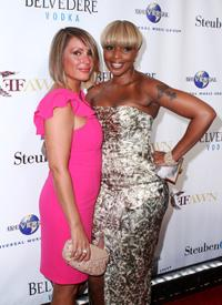 Angie Martinez and Mary J. Blige at the