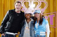Michael Michalsky, Missy Elliott and Angie Martinez at the press conference to announce Missy Elliott's partnership with Adidas.