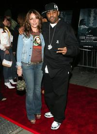 Angie Martinez and Damon Dash at the premiere of