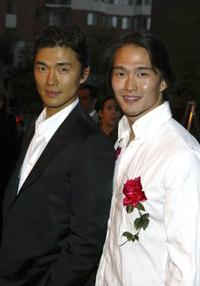 Rick and Karl Yune at the screening of