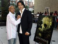 Eugene Byrd and Karl Yune at the screening of