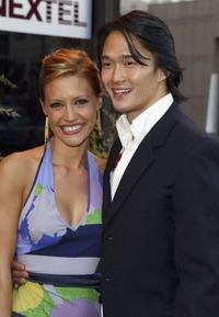 Kadee Strickland and Karl Yune at the screening of