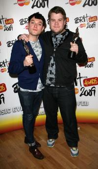 Mathew Horne and James Corden at the Brit Awards 2009.