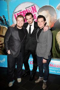 James Corden, Phil Claydon and Mathew Horne at the screening of