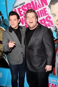 Mathew Horne and James Corden at the screening of