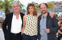 Bernard Le Coq, Florence Pernel and Denis Podalydes at the photocall of
