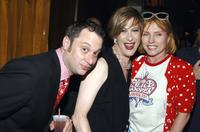 Kenny Mellman, Justin Bond and Debbie Harry at the after party of the Opening night of