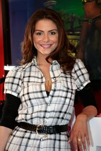 Maria Menounos at the Victorias Secret Super Bowl VIP Salon in celebration of the 42nd Annual Super Bowl.