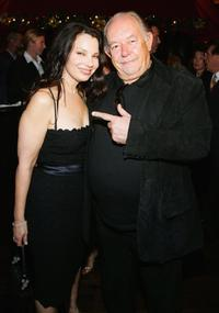 Fran Drescher and Robin Leach at the grand opening party of