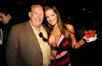 Robin Leach and Monique Benevento at the Dennis Hopper's Birthday Dinner.