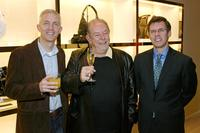 Lee Bird, Robin Leach and Jim Seuss at the grand opening of Cole Haan boutique.