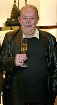 Robin Leach at the grand opening of Cole Haan boutique.