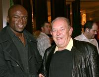 Seal and Robin Leach at the grand opening of the Cole Haan boutique.