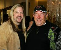 Robin Leach at the Color Salon Grand Opening.