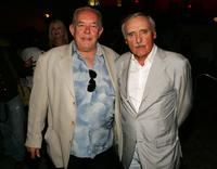 Robin Leach and Dennis Hopper at the CineVegas Honoree's Reception.