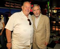 Robin Leach and Dennis Hopper at the Brenden Celebrity Star ceremony during the 2008 CineVegas film festival.