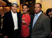 Producer Bill Perkins, Alphonso McAuley and associate producer Keith Perkins at the after party of the California premiere of