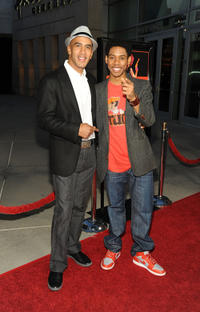 Producer Bill Perkins and Alphonso McAuley at the California premiere of