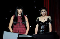 Rosy de Palma and Maria Barranco at the Goya cinema Awards 2011 in Spain.