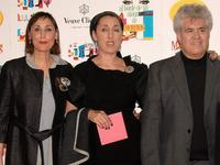 Maria Barranco, Rossy de Palma and Pedro Almodovar at the 20th Anniversary screening of