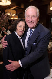 Fran Lebowitz and Jerry Weintraub at the New York premiere of