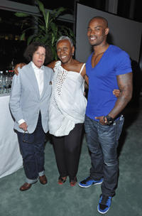 Fran Lebowitz, editor at-large Vogue Italia Bethann Hardison and Tyson Beckford at the Vuitton in New York.