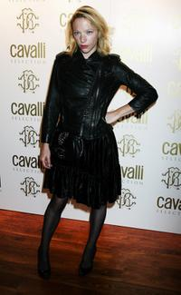 Natalie Press at the Roberto Cavalli Dinner & Wine Launch at 17 Berkely Square.