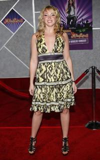 """Jennifer Tisdale at the premiere of """"Hannah Montana & Miley Cyrus."""""""