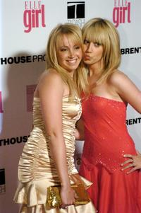 Jennifer Tisdale and her Sister Ashley Tisdale at the First Annual ELLEGIRL Hollywood Prom party.