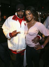 Ghostface Killah and Claudia Jordon at the AlwaysOn Hollywood Pool Party.