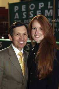 Dennis Kucinich and Elizabeth Kucinich at the 4th Anniversary Of Iraq War.