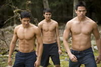 Alex Meraz as Paul, Kiowa Gordon as Embry Call and Chaske Spencer as Sam Uley in