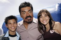 Taylor Lautner, George Lopez and Taylor Dooley at the after party of the premiere of