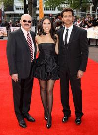 Rakesh Roshan, Barbara Mori and Hrithik Roshan at the European premiere of