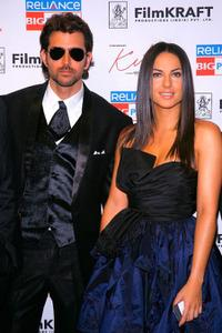 Barbara Mori and Hrithik Roshan at the New York premiere of