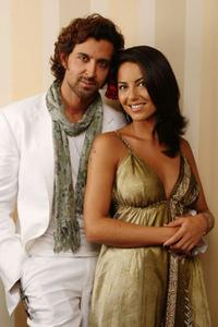 Hrithik Roshan and Barbara Mori at the portrait session to promote