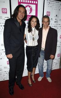 Claudio Dabed, Barbara Mori and Marcello Mazzarello at the Los Angeles Latin International Film Festival (LALIFF) closing night gala.