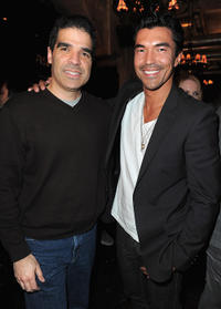 Mortal Kombat creator Ed Boon and Ian Anthony Dale at the unleashing of